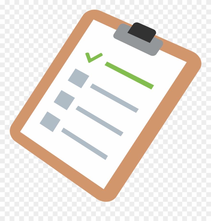 Clipboard Clipart Checklist Template.