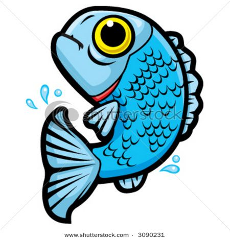 Fish in Water Clip Art.