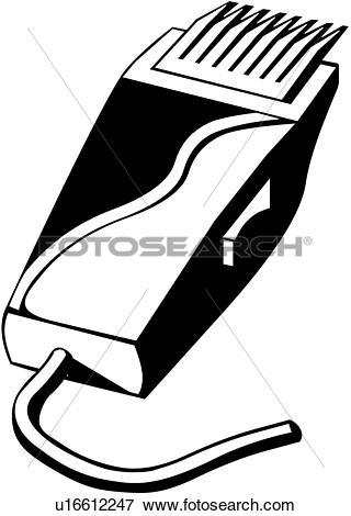 Clip Art of , hair clipper, tool, u16612247.