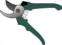 Free garden clippers Clipart.