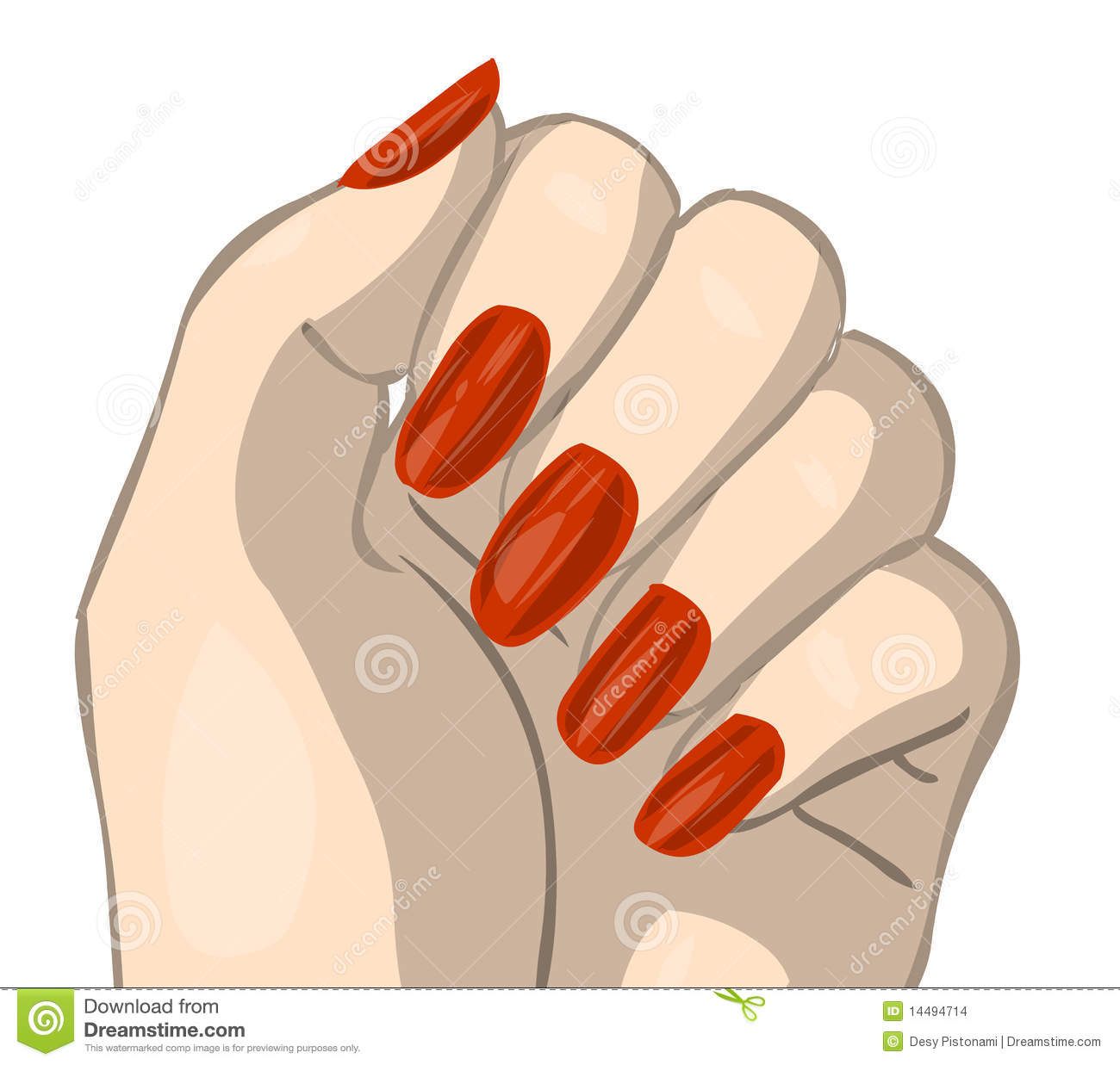 Nail Clip Art Hand With Red Nails Clipping #SLcltc.