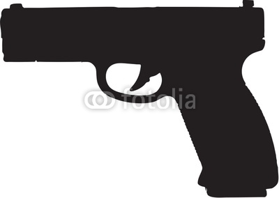 9mm Semi Automatic Gun Clip Art With Clipping Path Stock Photo And.