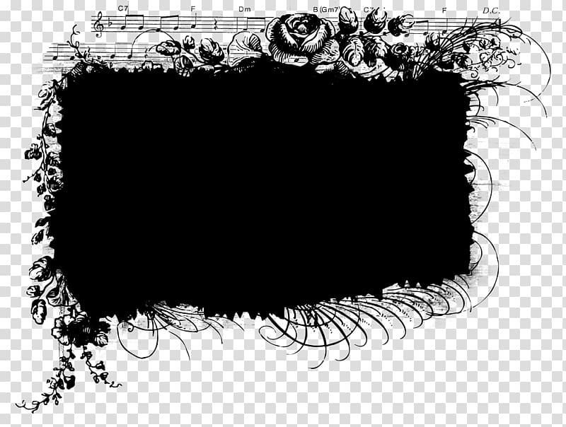Black floral frame illustration, Mask , Creative black.