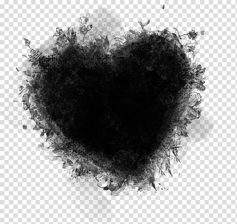 Black heart illustration, Mask Clipping path, Pretty Heart.