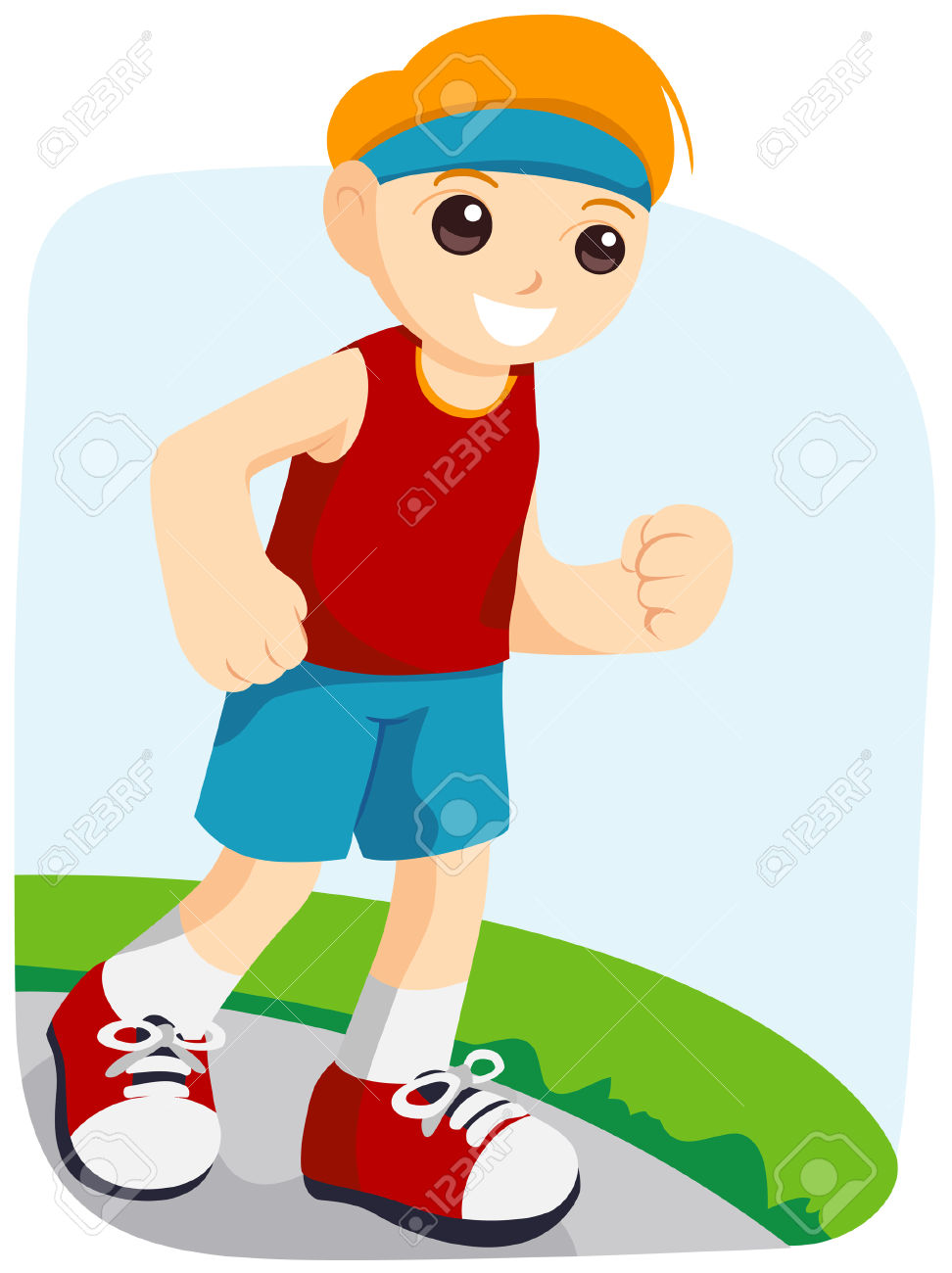 Boy Jogging With Clipping Path Royalty Free Cliparts, Vectors, And.