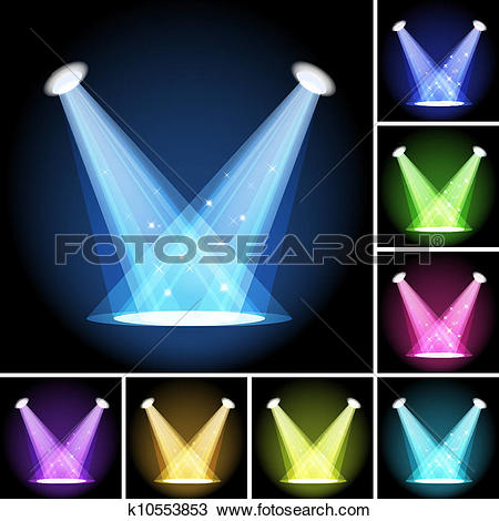Clipart of Stage Light k10553853.