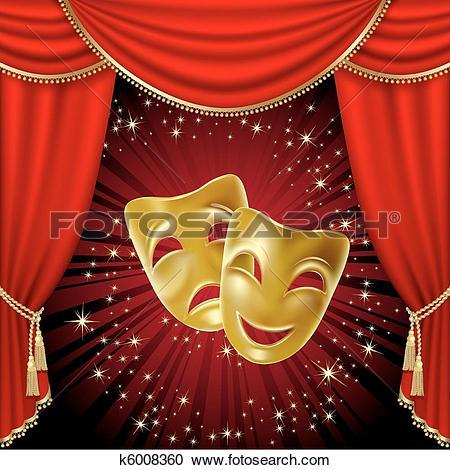 Clip Art of Theater stage k5039437.