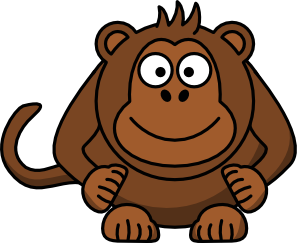 Cartoon Monkey Clip Art at Clker.com.