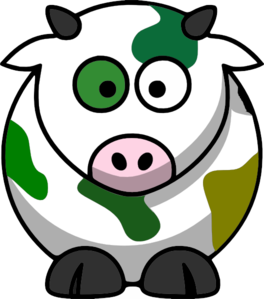 Camo cow clip art at clker vector clip art.