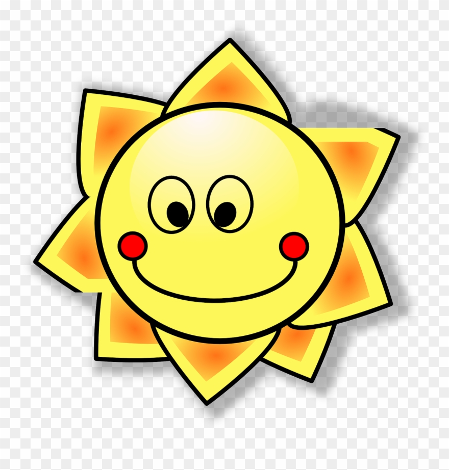 Smiling Sun Clip Art At Clker.