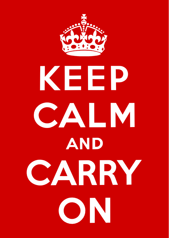 Keep Calm And Carry On Clipart.