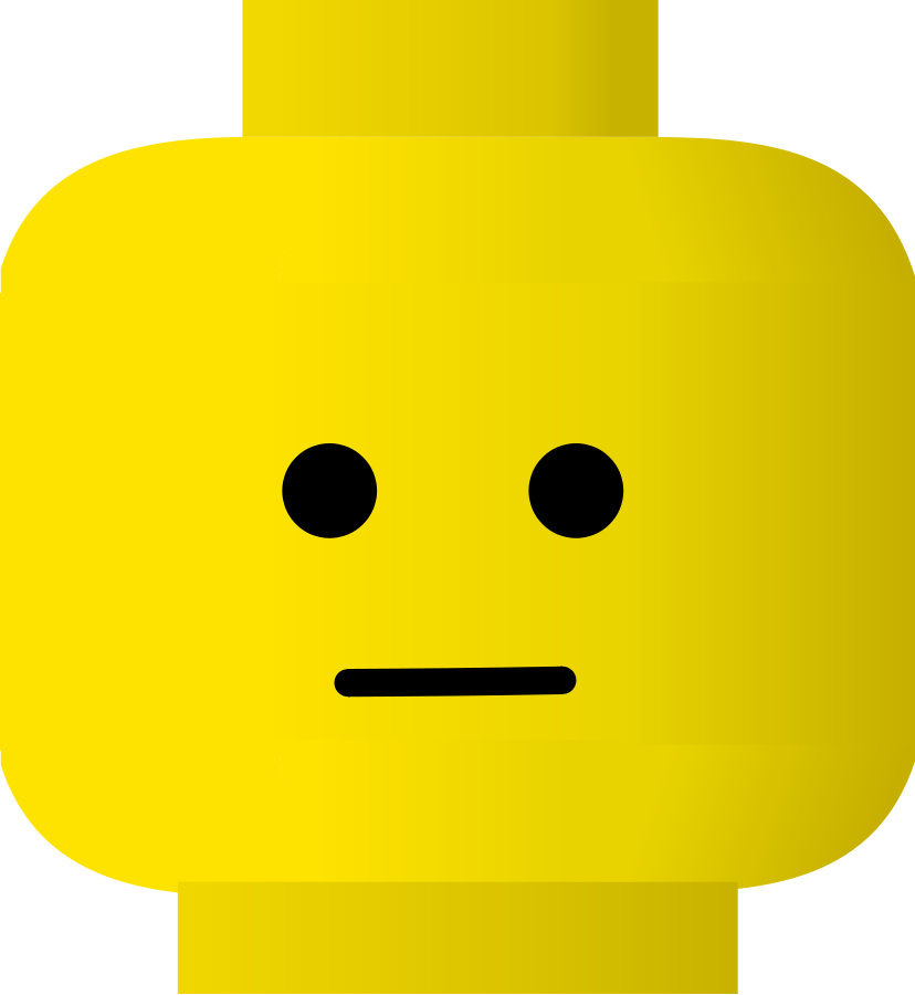 LEGO smiley calm Clipart, vector clip art online, royalty free.
