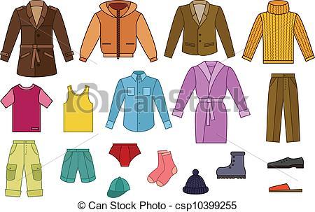 Cap shirt pants Vector Clipart Royalty Free. 433 Cap shirt pants.