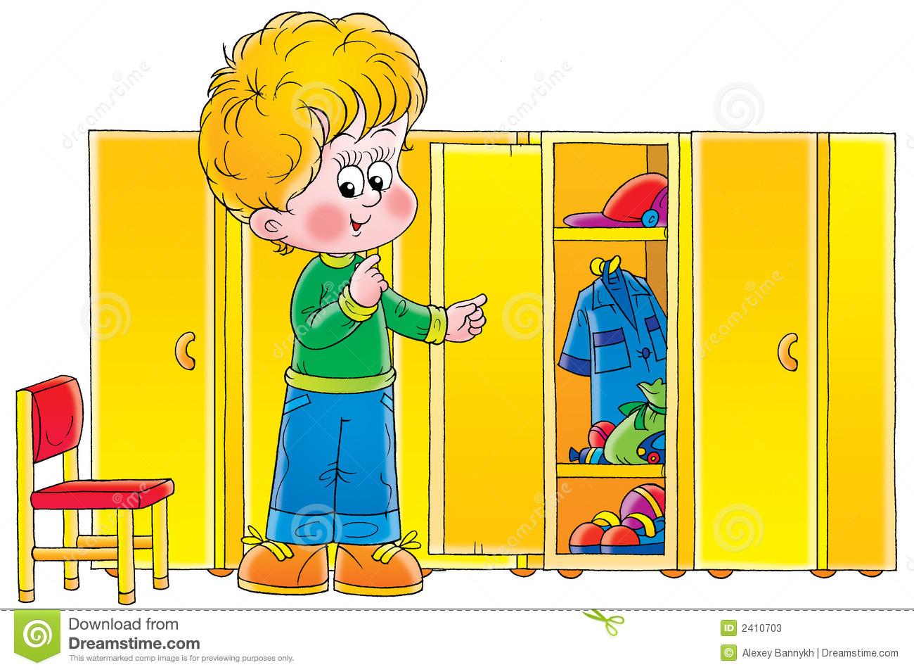 Cloakroom Stock Illustrations.
