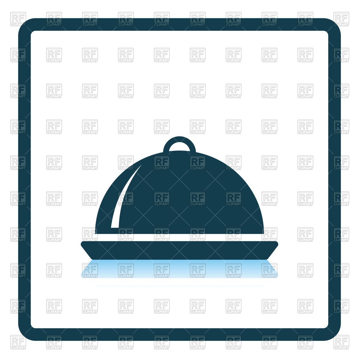 Restaurant cloche icon Stock Vector Image.
