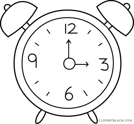 Clock clipart black and white 2 » Clipart Station.