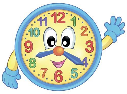 Cartoon clock baby design vector 02.