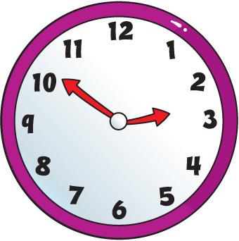 Clip art of clock.
