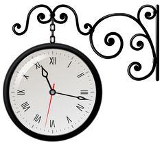 White wall clock.