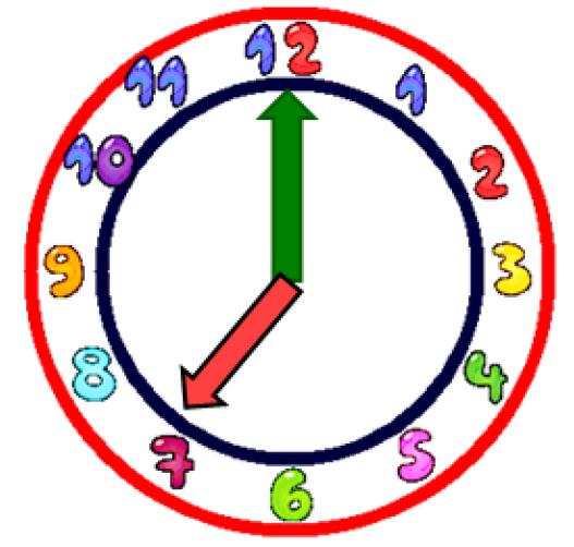Cute Clock Clipart For Kids.