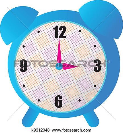 Cute alarm clock clipart.