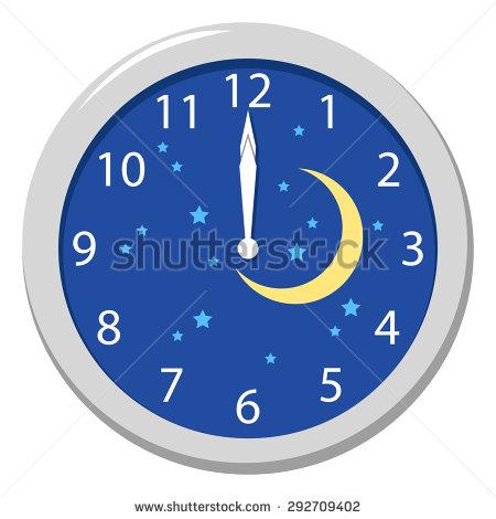 Clock Clipart Midnight Clipground