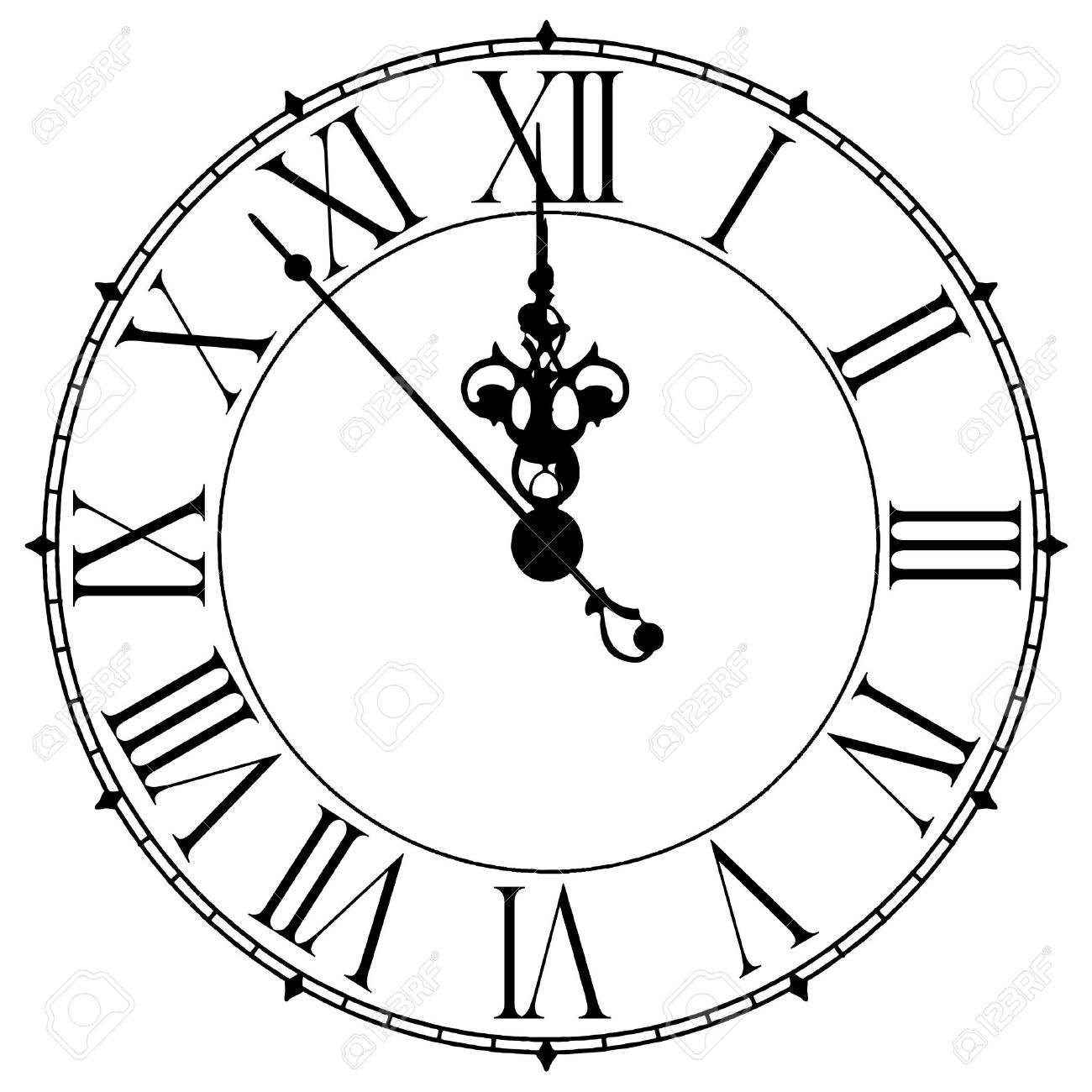 Clock Clipart Midnight Clipground