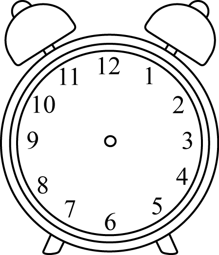 Black and White Alarm Clock without Hands.