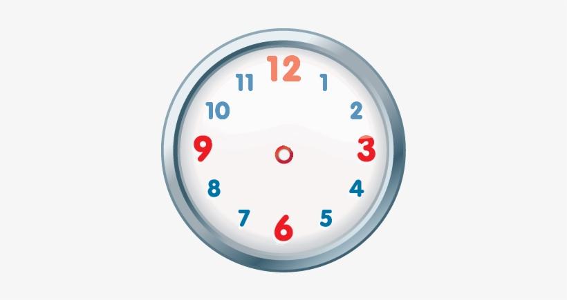 Clock Clipart Colourful.