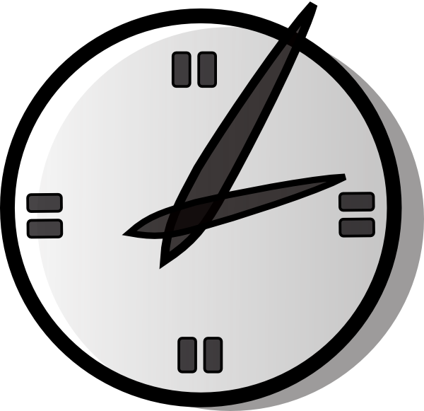 Analogue clock clip art free vector clipart clipart.