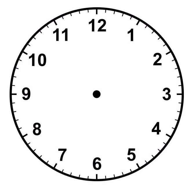 Common Worksheets » Printable Clock Face With Minutes.