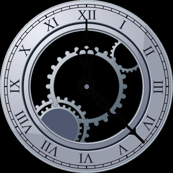 Roman Clock large 900pixel clipart, Roman Clock design.
