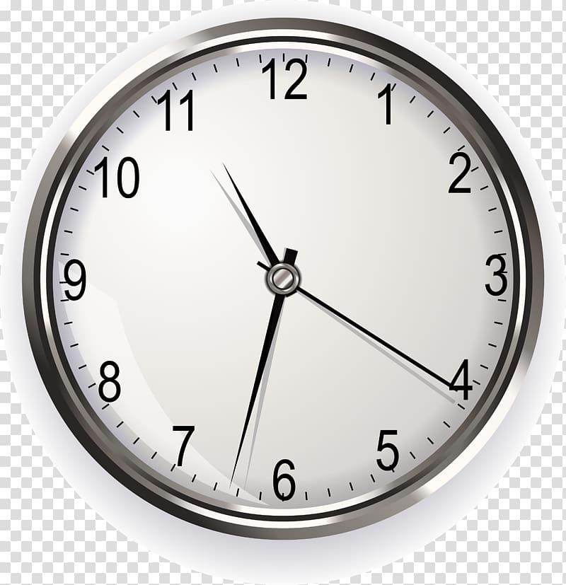 Clock Illustration, Clock watch design material transparent.