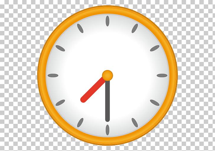 Alarm Clocks Emoji , clock hands PNG clipart.