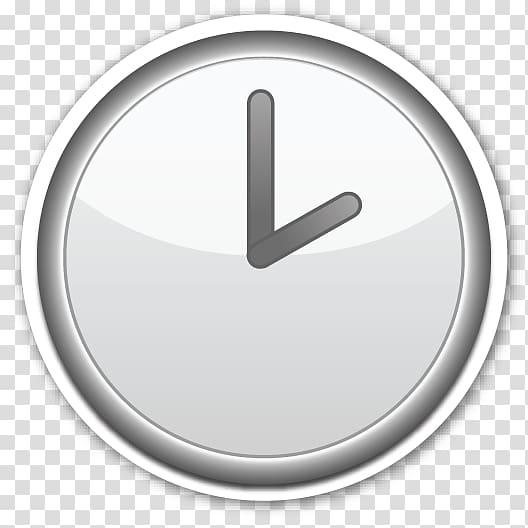 Emoji Clock face Sticker Alarm Clocks, Emoji transparent background.