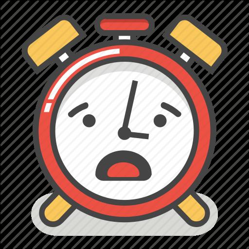 'Cute Alarm Clock Emoji In Different Expressions' by Akshar Pathak.