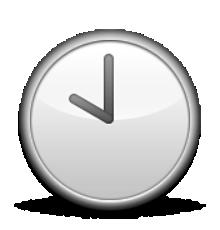Ios Emoji Clock Face Ten Oclock.