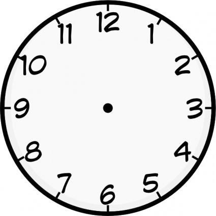 Clock Face Clip Art, Vector Clock Face.