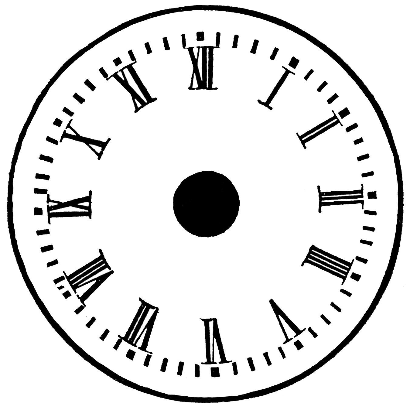 Printable Blank Clock Face.