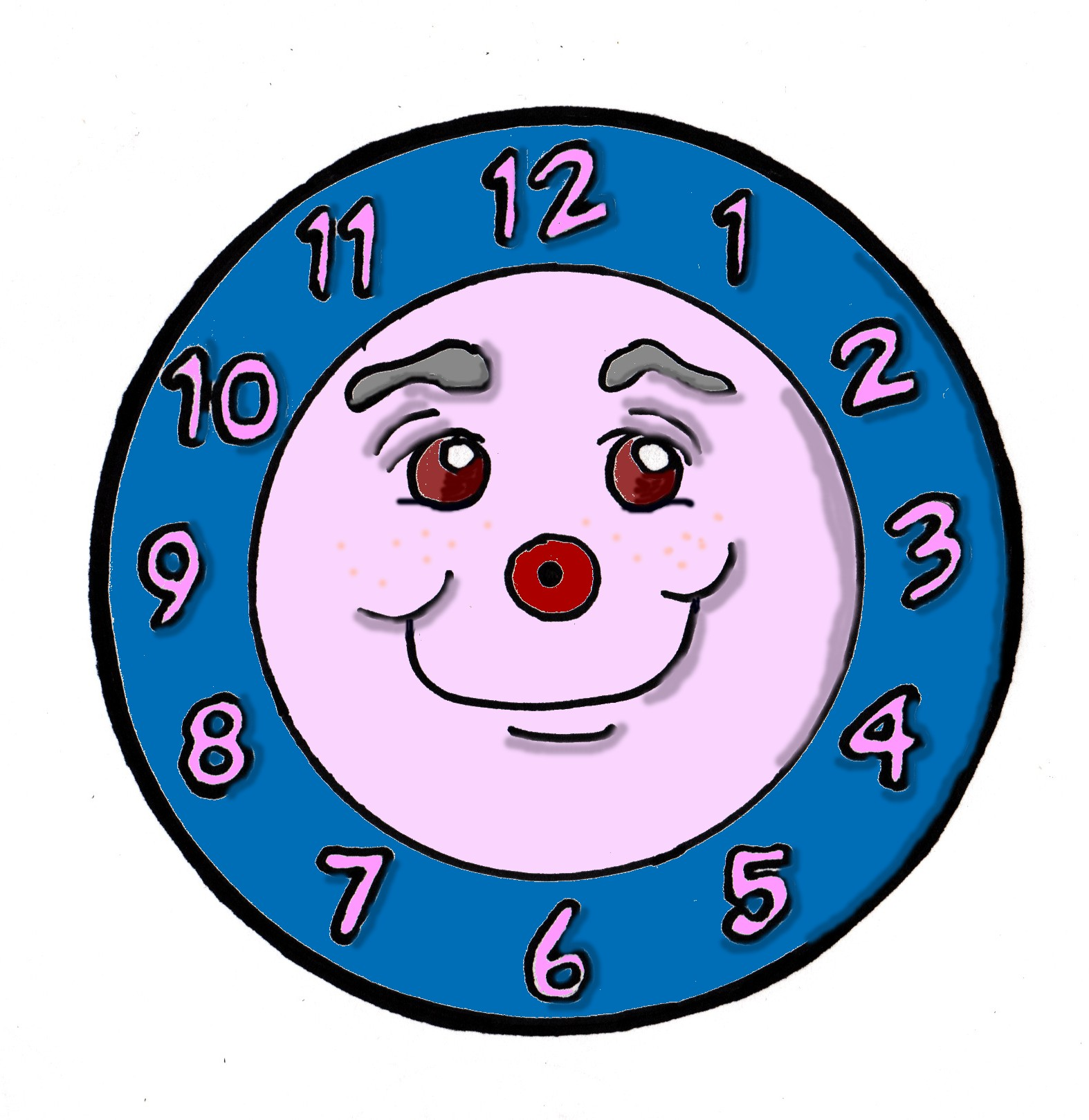 Clock face images clip art.