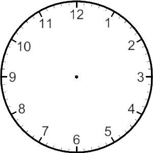 Blank Clock Face.