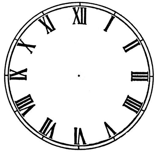 Printable Blank Clock Face.
