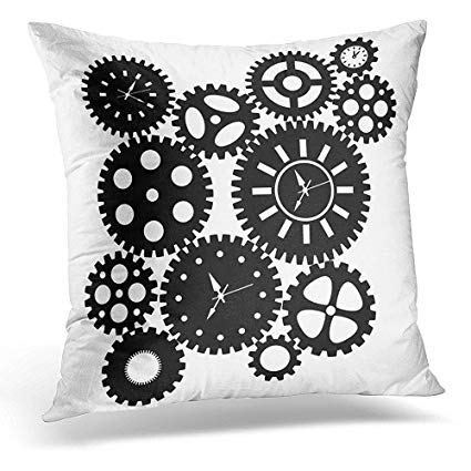 Amazon.com: Throw Pillow Covers Watch Time Clock Gears.
