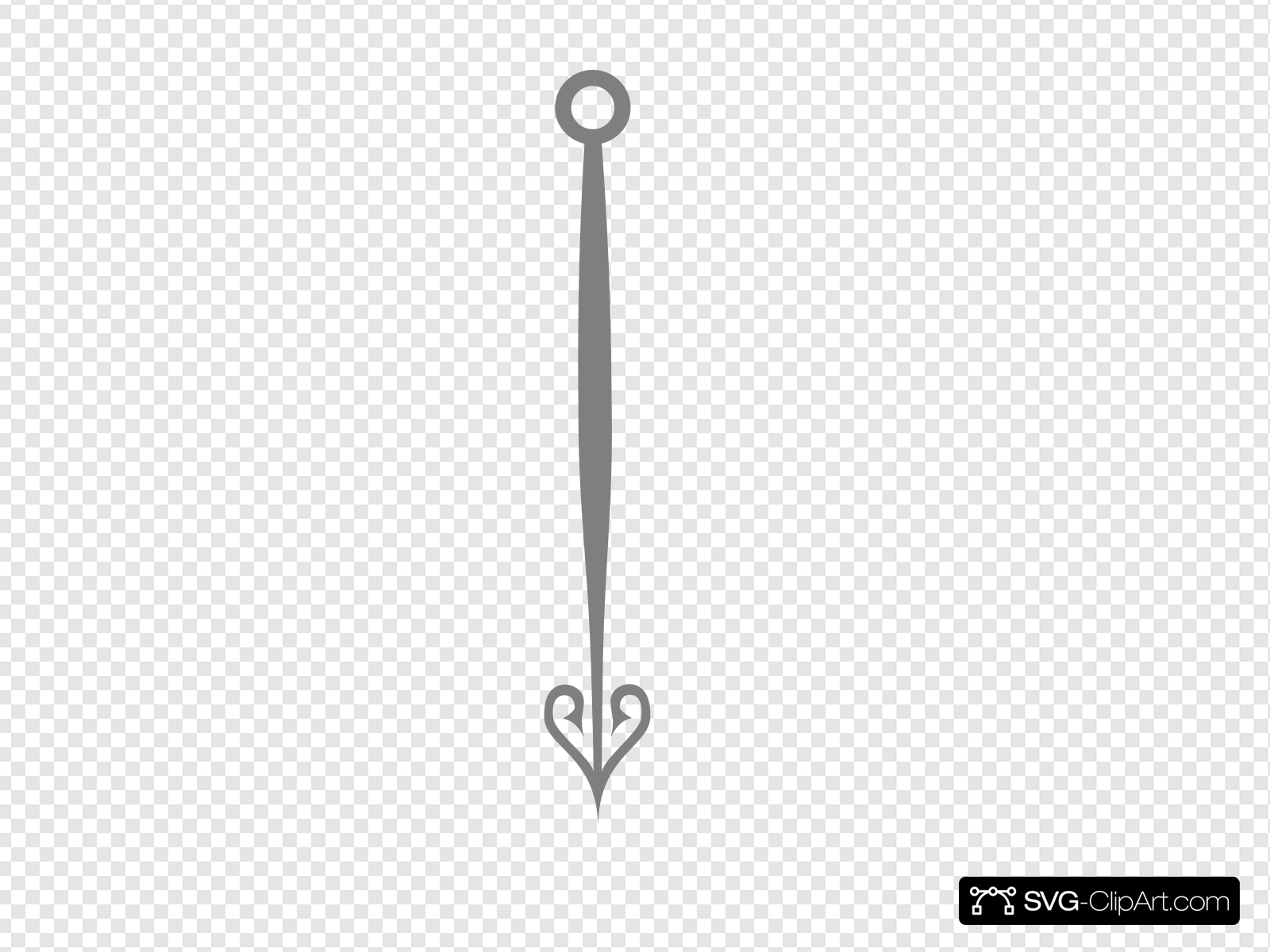 Clock Hand Grey Clip art, Icon and SVG.