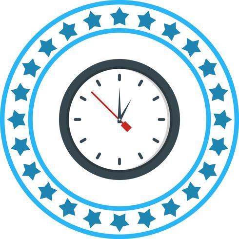 Vector Clock Icon.