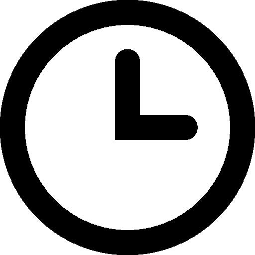 Circular clock Icons.