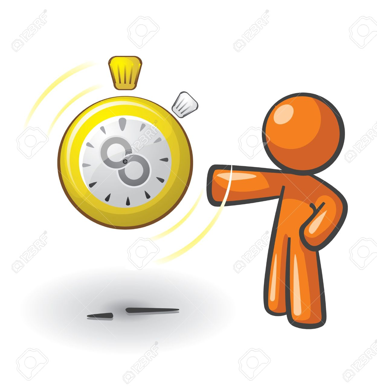 Clock man clipart.