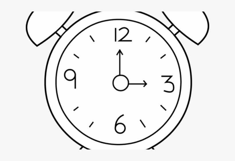 Clock Outline Cliparts.
