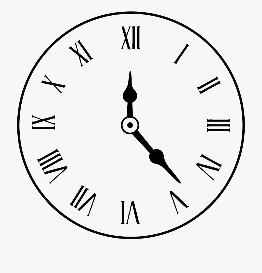 Roman Numeral Clock Outline, Cliparts & Cartoons.