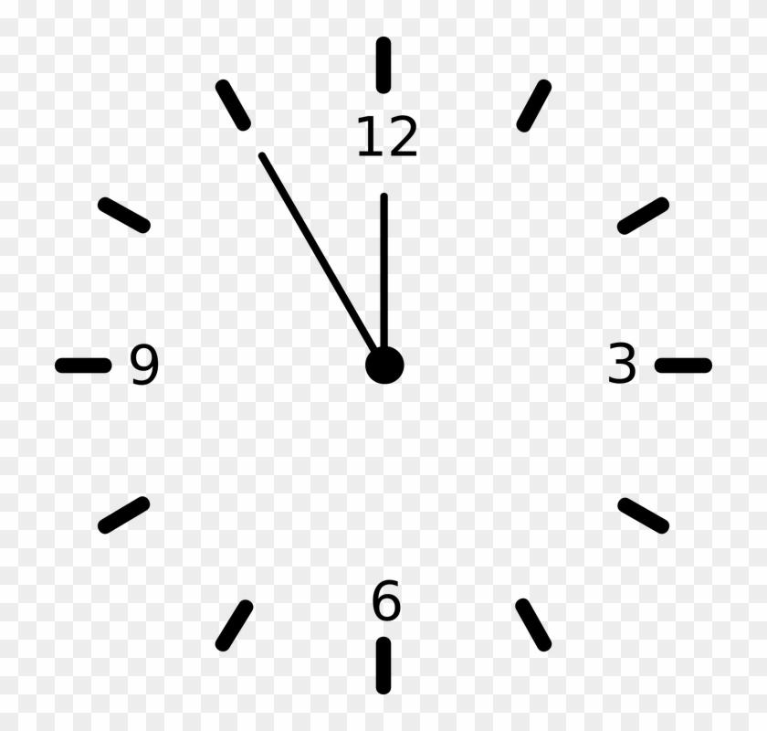 Clock Ticking Tick Time Number Analog Hour.